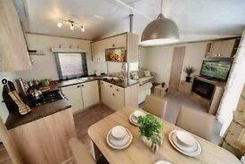 Luxury static caravan for sale with decking & sea views! Beach! Devon