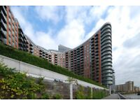 8th floor studio apartment in New Providence Wharf, gym, pool, 24hr concierge, CCTV, furnished