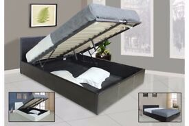💗GET IT NOW ON LOW PRICE💗New Double Gas lift Storage Ottoman Leather Bed + MEMORY FOAM Mattress💗