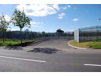Approx 2 Acre Yard For Rent Wishaw. North Lanarkshire Fenced With Truck Entrance