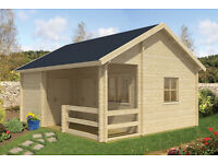 multi-roomed log cabin