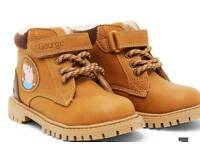 BNWT infant size 7 George pig boys tan fleece lined ankle boots