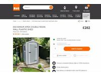 Keter plastic shed 6x4 brand new B&Q