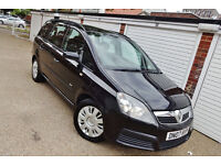 ** 2007 07 Vauxhall Zafira 1.6 Life Manual 7 Seats **