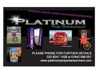 DJS, SOUND SYSTEMS, PHOTO BOOTHS, STAR CLOTHS, PICK N MIX STAND, POPCORN AND CANDY FLOSS MACHINES