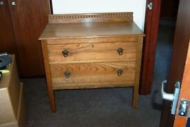 Solid Oak Chest of Drawers c1920's