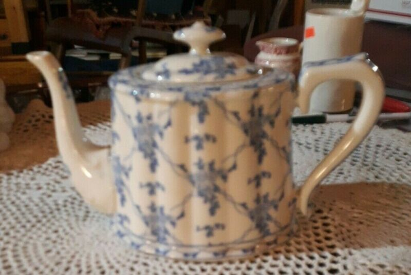 Rose Brocade By Skye McGhie White Porcelain Tea Pot Made In China