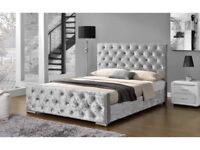 Crush Velvet diamonds bed