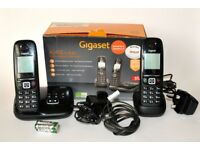 Boxed Gigaset AS405 Duo & A120 Single Telephone Handsets