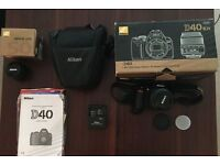 Nikon D40 Digital SLR Camera (Boxed + lens + bag)