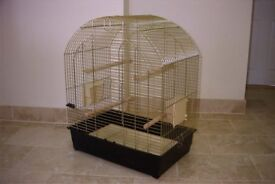 Large Bird cage by Ferplast Greta model in Antique Brass finish for Cockatiels or Budgies