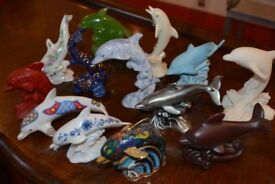 Stunning Limited edition Lenox dolphins with extras (rare collector pieces)