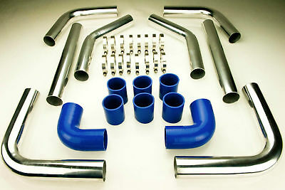 2.25 TURBO INTERCOOLER PIPE PIPING DIY KIT 57MM SILICONE