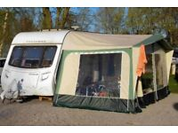 CARAVAN AWNING - APACHE TORINO - GREEN CANVAS - includes green breathable groundsheet