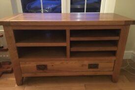 Solid oak tv/games cabinet