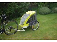 Adventure AT1 fast-fold alloy child bike trailer