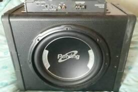Car sub amp & stereo