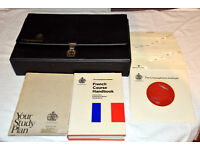 The Linguaphone Institute Cours De Francais study pack, 16 x 45rpm records in case