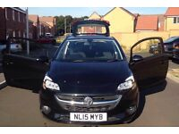 2015 VAUXHALL CORSA EXCITE 1.2 IN METALLIC BLACK FULL SERVICE IMMACULATE IDEAL FIRST CAR BARGAIN!!