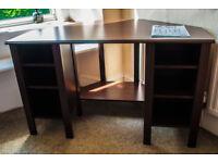 Corner desk - dark brown