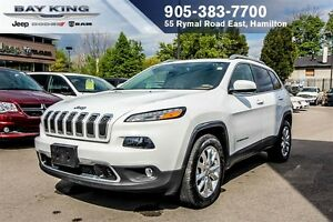 2016 Jeep Cherokee LIMITED 4X4, PANO SUNROOF, BACKUP CAM, REMOTE
