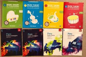 Large Selection of Piano Theory Practice Exam books ABRSM Exam pieces, scales and arpeggios books