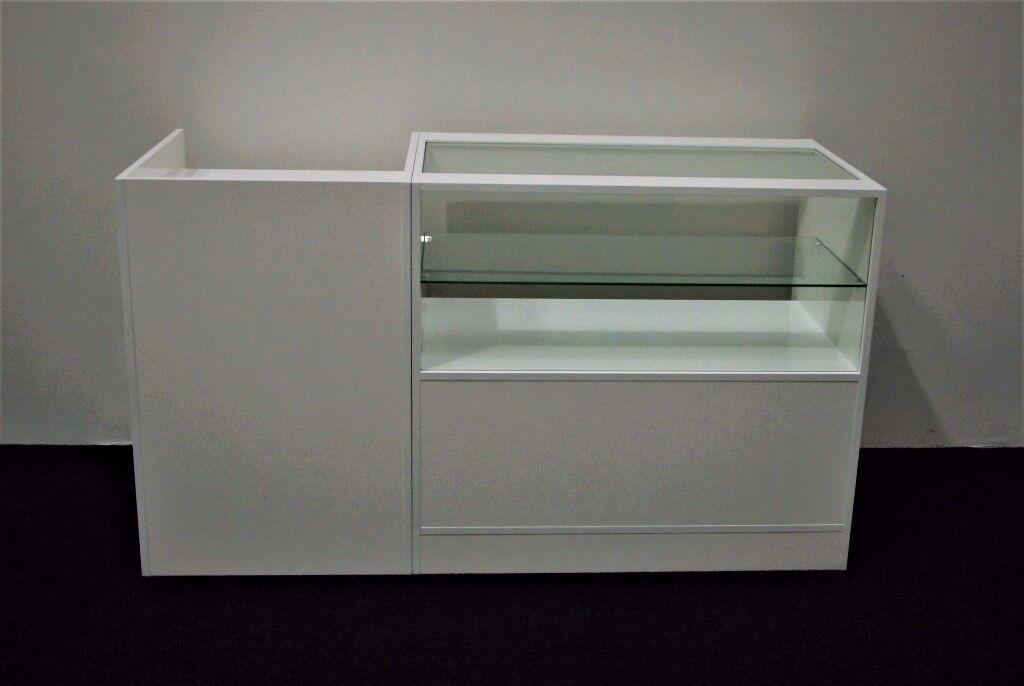 Ref: 0327 Shop Counter set of 2 units White Matt Finish