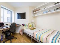 Single bed in 507 rooms student hall at S Lambeth Road in London