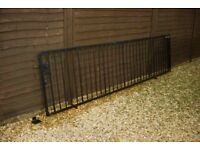 Heavy Duty Steel Gate with mounting kit ~ Ideal for 3 meter opening ~ powder coated ~ never used.
