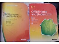 Microsoft Office 2007 and 2010 Home and Student