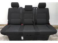 VW T6 Transporter Caravelle Rear Triple Seat Bed, Kutamo Pattern