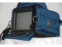 JVC TM 1011 broadcast field monitor and portabrace case UNUSED AS NEW