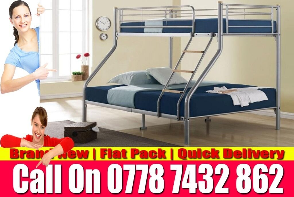 Strong Metal Bunk Frame Single Bottom Single Top Bedding Bellmawrin Paddington, LondonGumtree - We sell best quality furniture including Leather beds , Crushed Velvet beds, Storage Beds , Contact now and we will help you with best and cheapest product we have