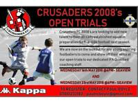 Crusaders 2008's Open Trials