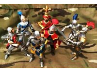 JOB LOT 7 SEVEN GREAT SCHLEICH PAPO ELC RITTER KNIGHTS SOLDIERS CASTLE TROOPS MYTHICAL FANTASY RARE