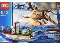LEGO City Coast Guard Plane 60015 Sea Plane and Fishing Boat - complete