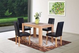 Dove Oak Dining Set with Chairs