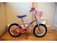 """14"""" Apollo Petal girl's bicycle with stabilisers and basket"""