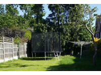 10 ft Trampoline with safety enclosure