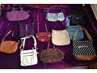 11 x Wholesale Joblot Ladies Handbags Shoulder Bags Totes Per Una Jane Shilton