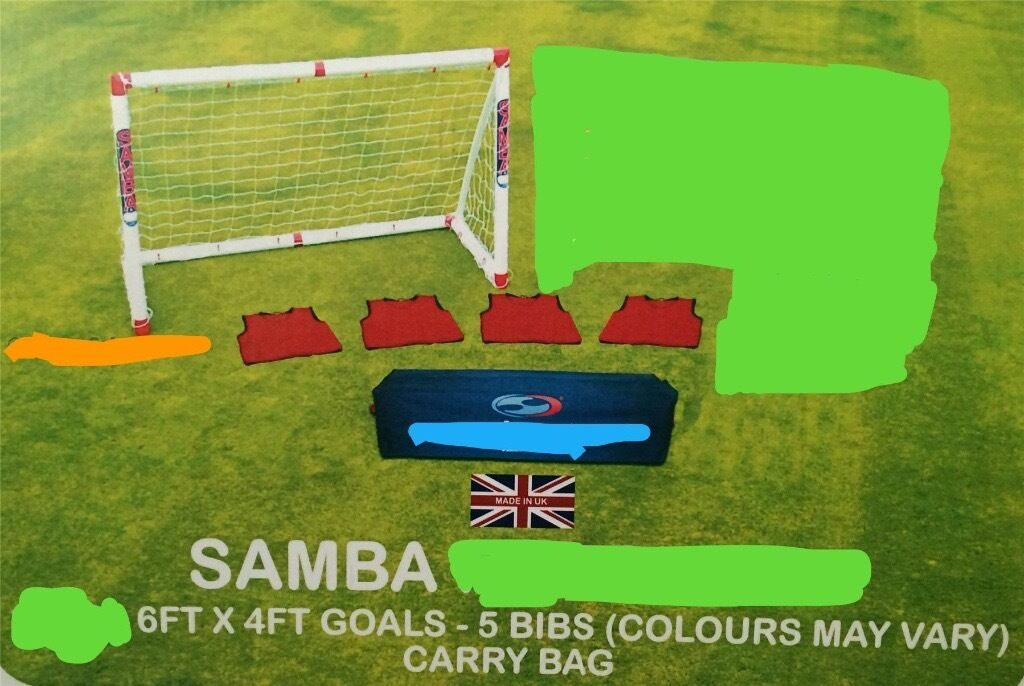 Football goal samba garden patio,newin East End, GlasgowGumtree - FOR SALE. BRAND NEW SAMBA GOAL,THE ONE AND ONLY ORIGINAL. PLEASE NOTE THAT YOU ARE GETTING THE RED GOAL ONLY ? I WILL ALSO GIVE YOU THE BRAND NEW CARRY BAG AND THE BRAND NEW BIBS. GRAB A BARGAIN. COLLECTION ONLY FROM COATBRIDGE THANKS