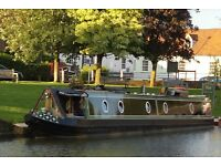 60ft Narrowboat Wilson Shell extra head room, large port holes, kitted out for living aboard