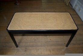 Wicker black lacquer stool