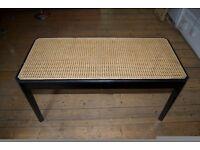 Wicker black lacquer stool