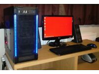 PC For Sale. 6 Core, SSD, TV Tuner, Monitor, Speakers etc...