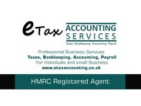 Bookkeeping, Self Assessment, Year End Account, Payroll,VAT Tax Return, Uber, Taxi, Hackney