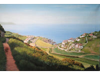 """""""The Esplanade, Woolacombe"""" Original Oil Painting by Tony Smith - Stunning"""