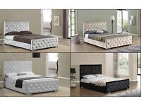 Can Deliver Today BRANDNEW Crushed Velvet Designer Double Bed King size Bed Frames Pay on Delivery