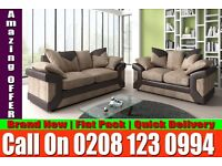 BEST LOOKING JUMBO CORD SOFA CORNER BROWN AND BEIGE SOFA ALSO 3 AND 2 SEAT Junction City