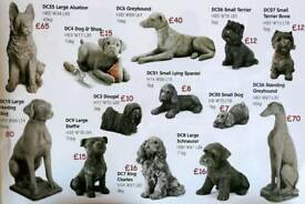 Selection of dogs garden ornaments